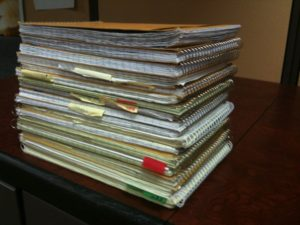 stack of steno pads